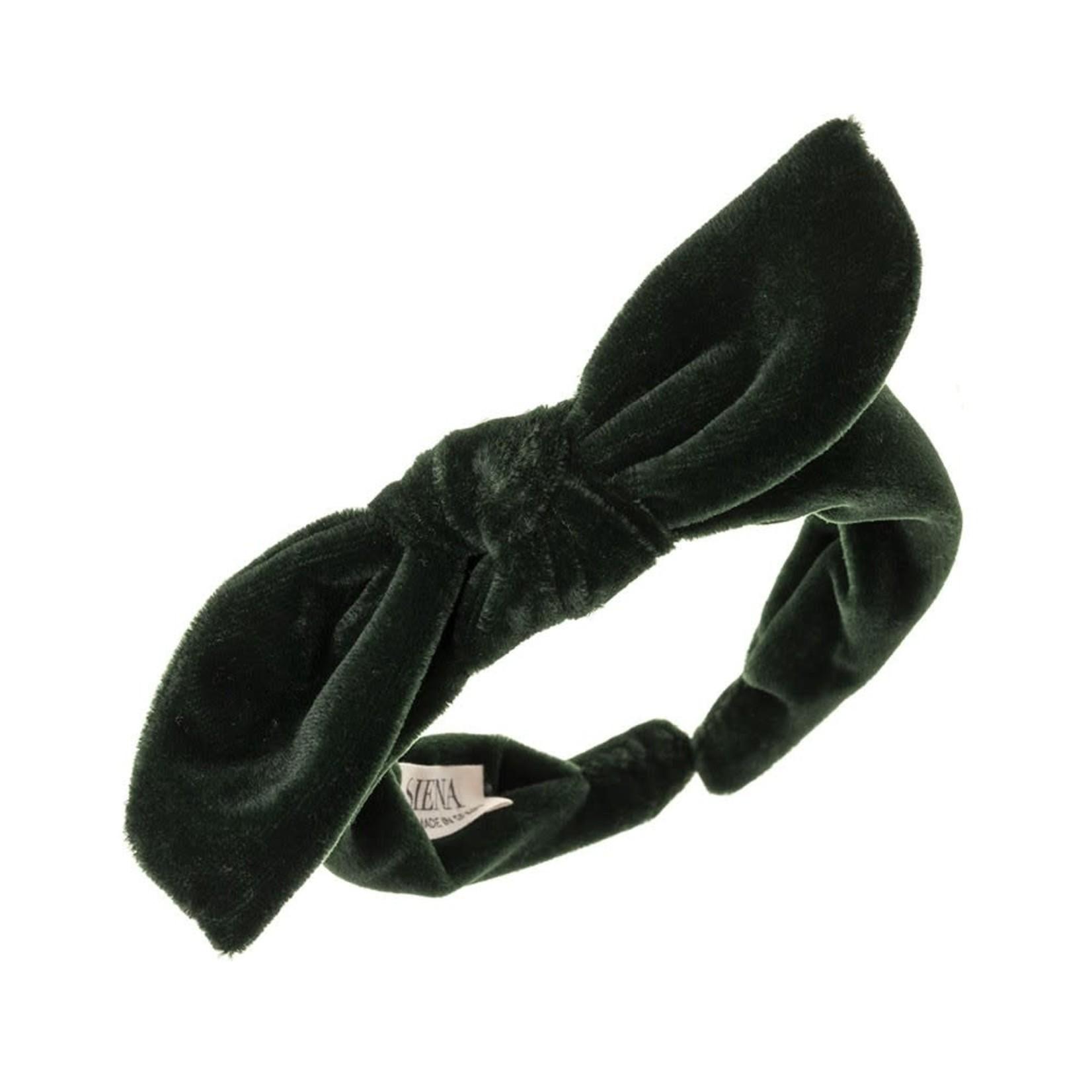 Diadeem Velvet Big Bow - Green
