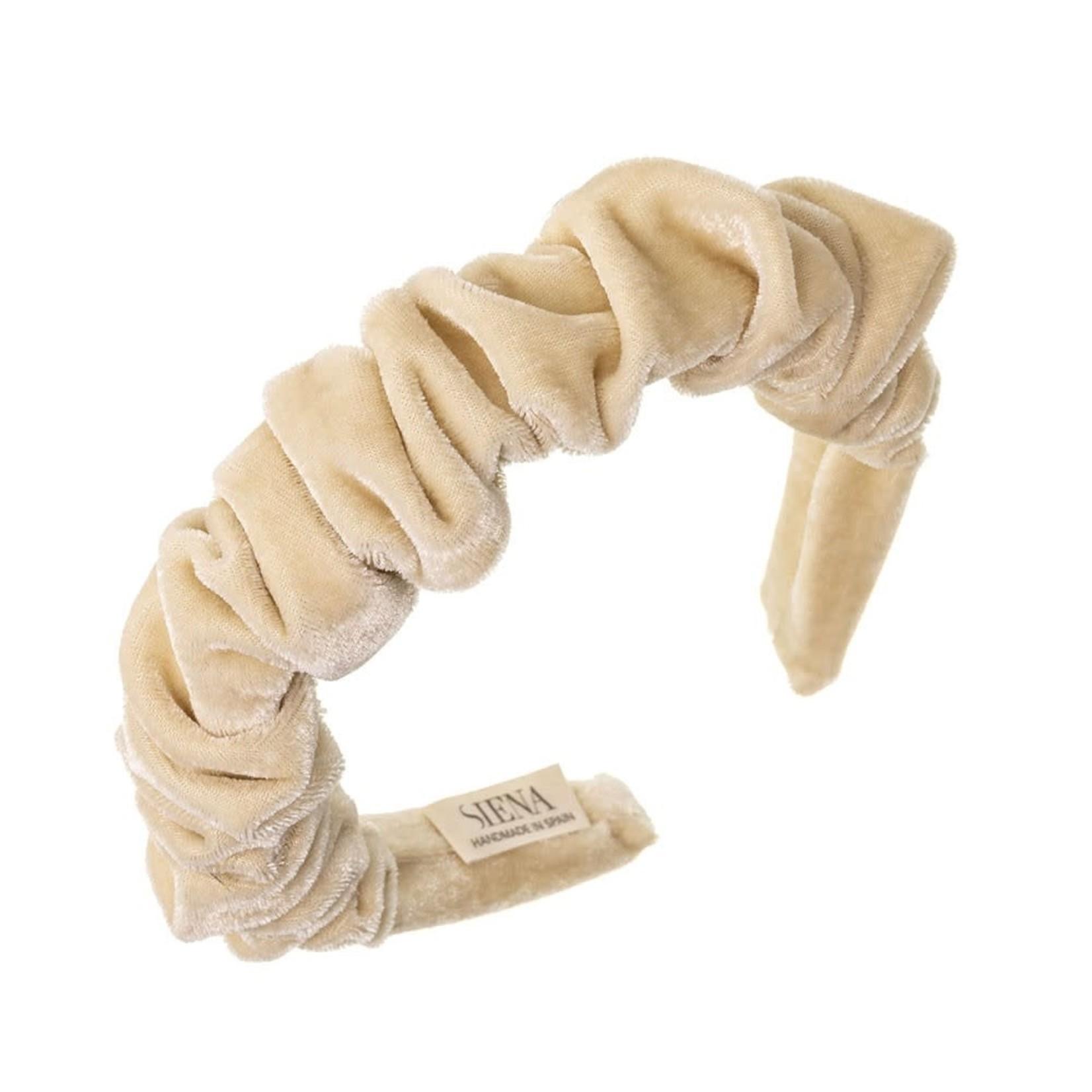 Headband Velvet Scrunchie - Ivory