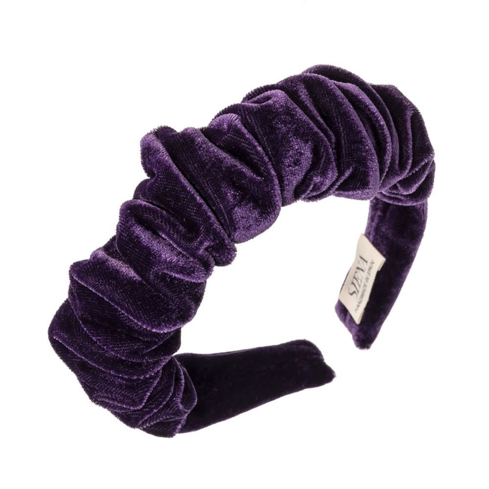 Headband Velvet  Scrunchie - Dark Purple