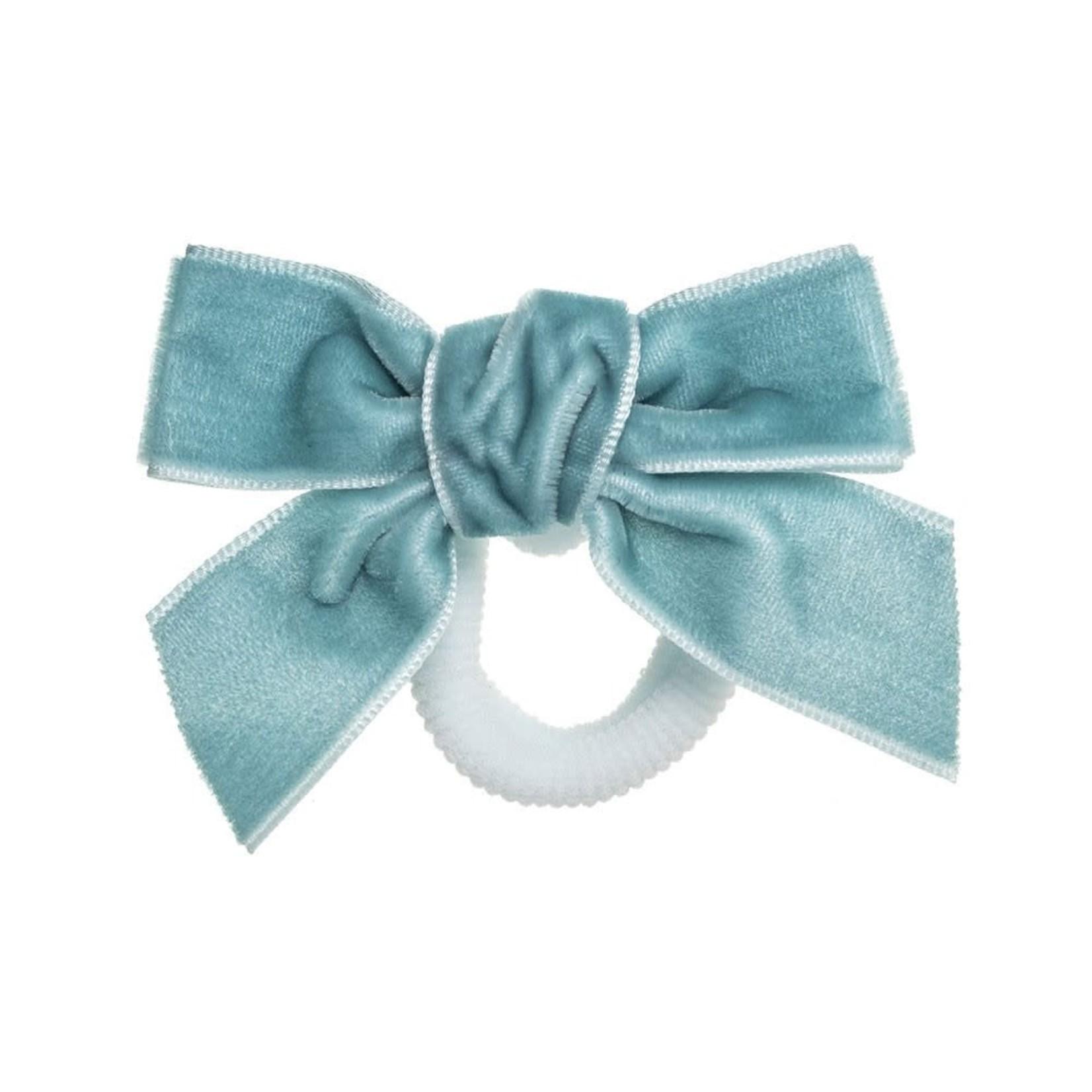 Hair Bow Velvet - turquoise