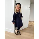 Dress Ruffel Navy - Patachou