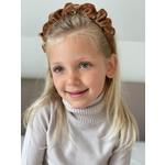 Headband Velvet Scrunchie - Camel Brown