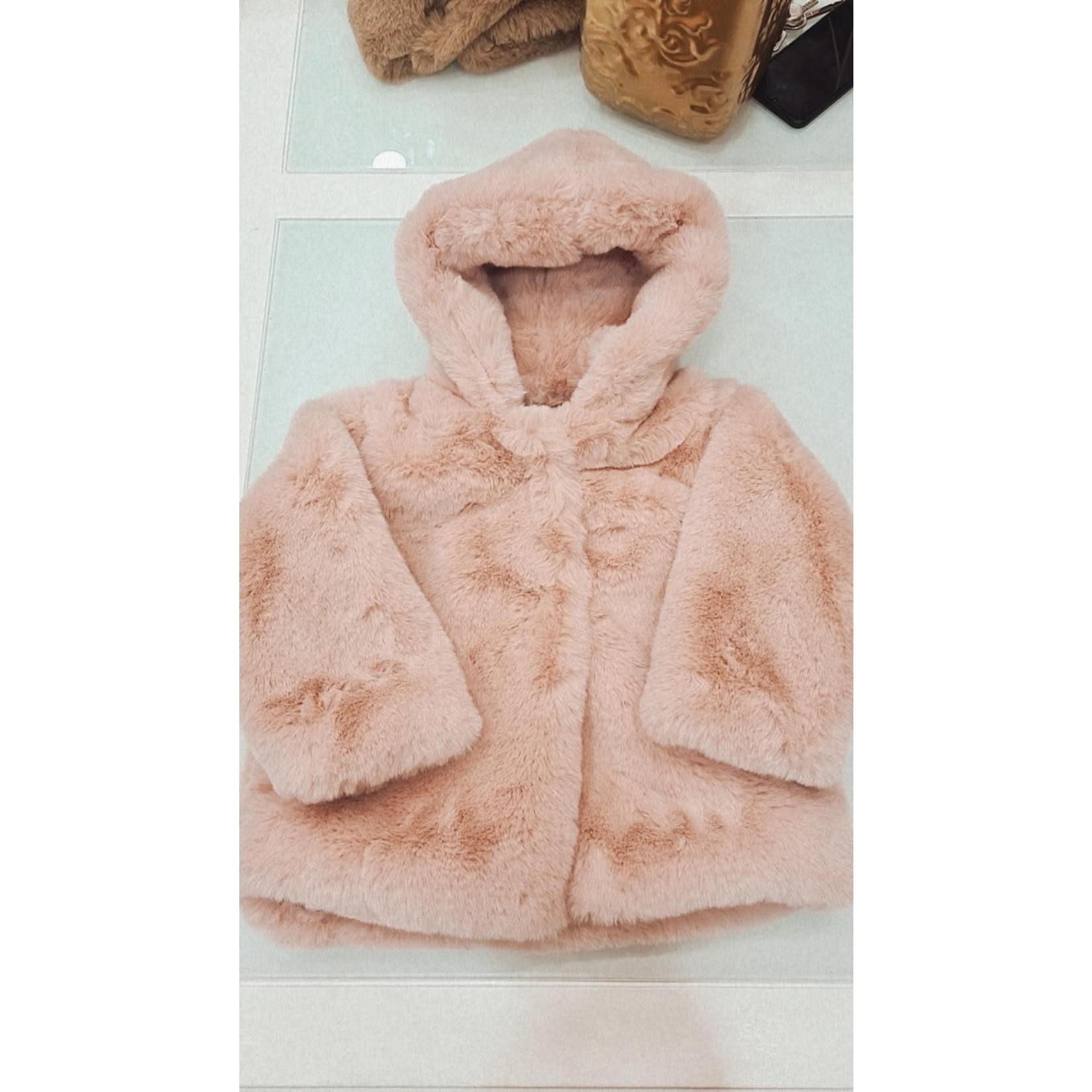Petite Zara Teddy Coat Dusty Pink - Petite Zara