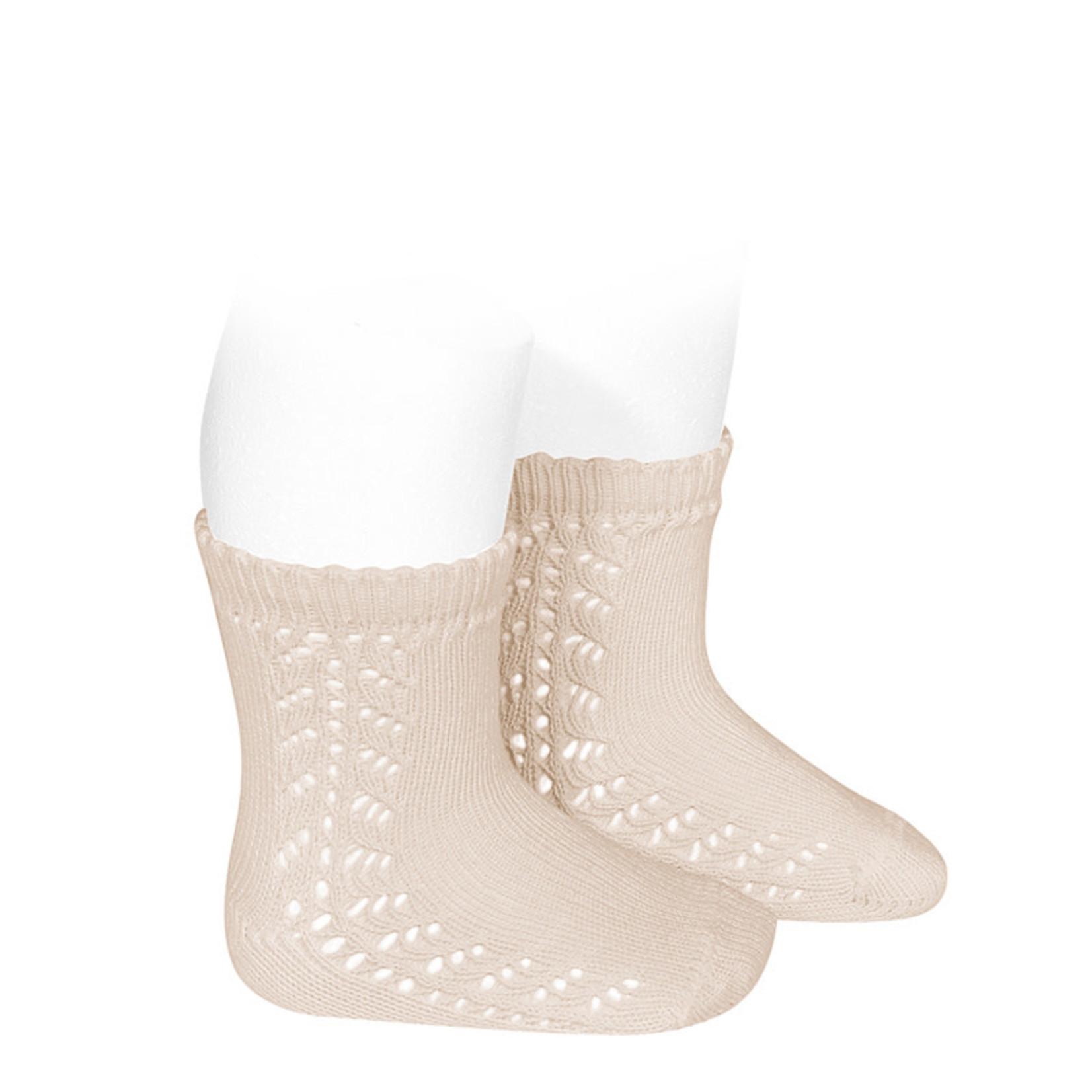 Condor Baby Side Openwork Socks - Linnen