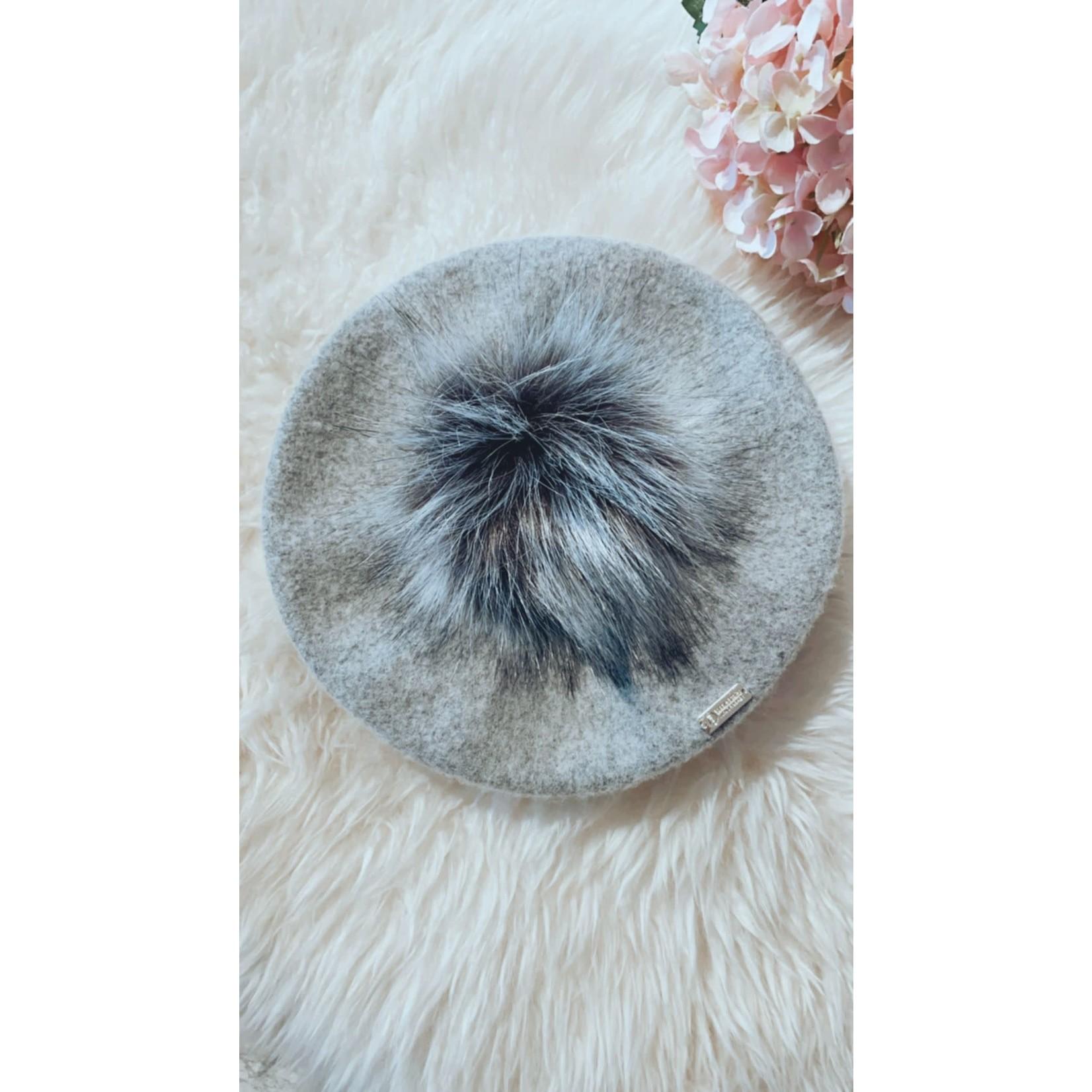 Hat Gray - Pompom 1-5 year