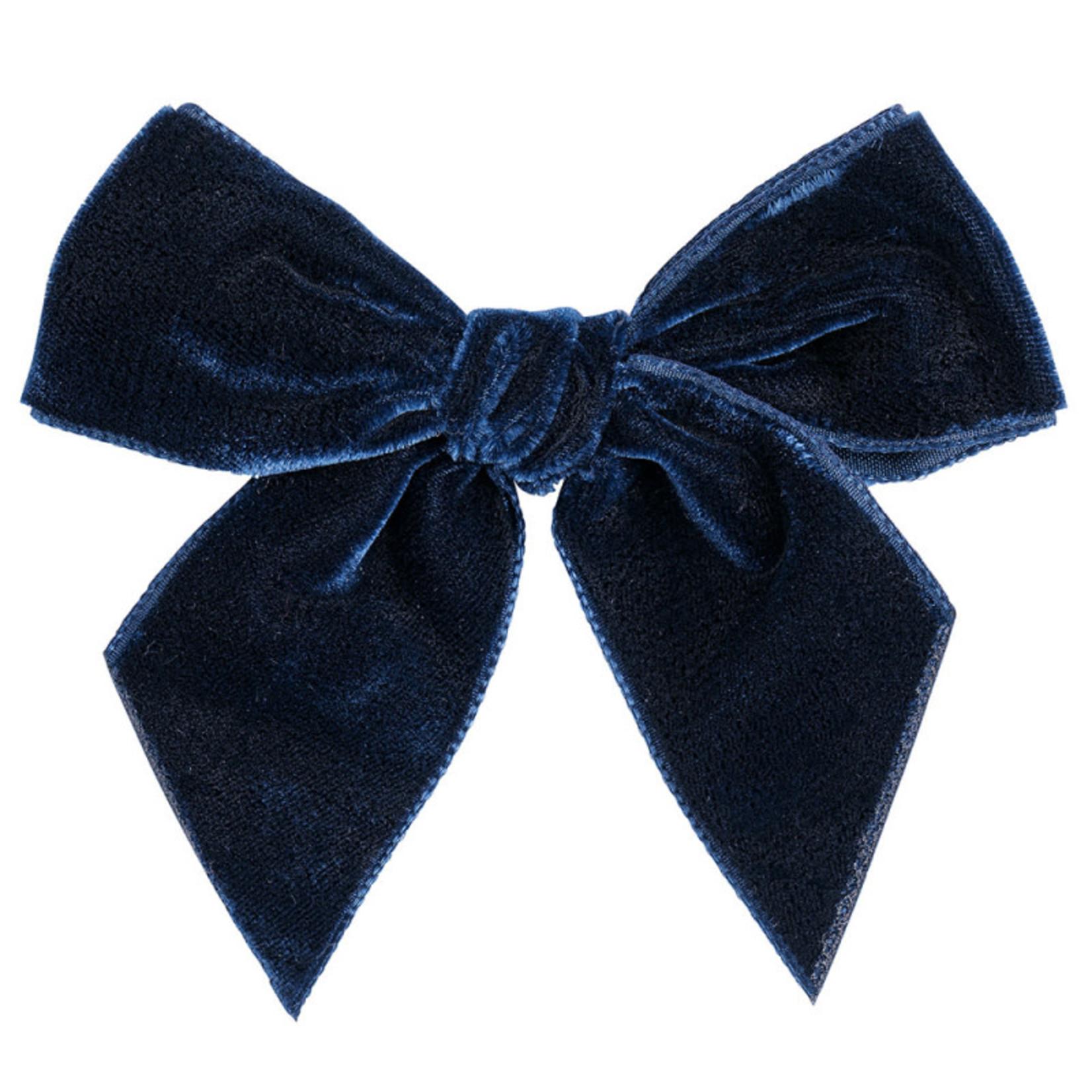 Condor Condor Velvet Bow Navy Blue