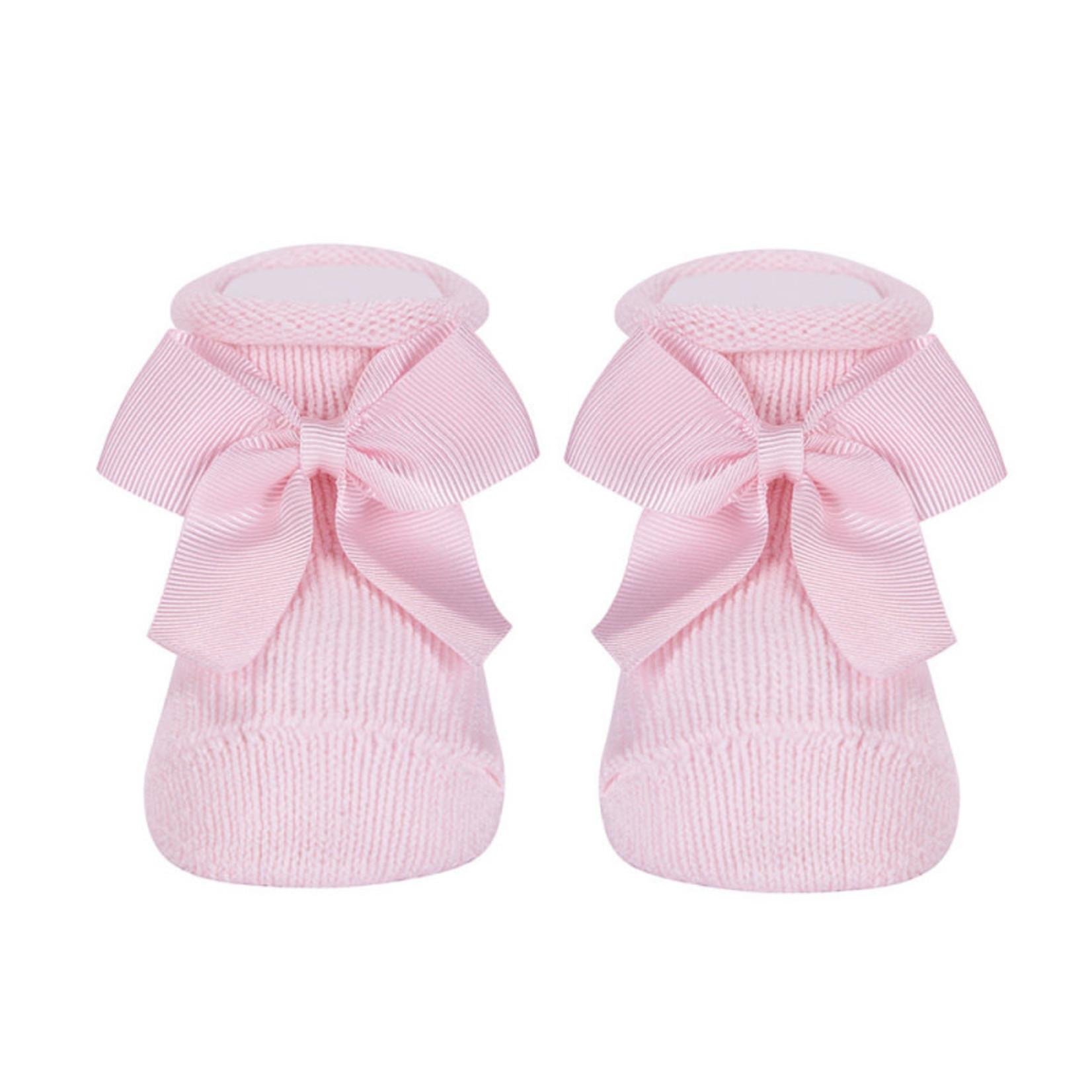 Condor Condor Baby Cotton Booties Pink