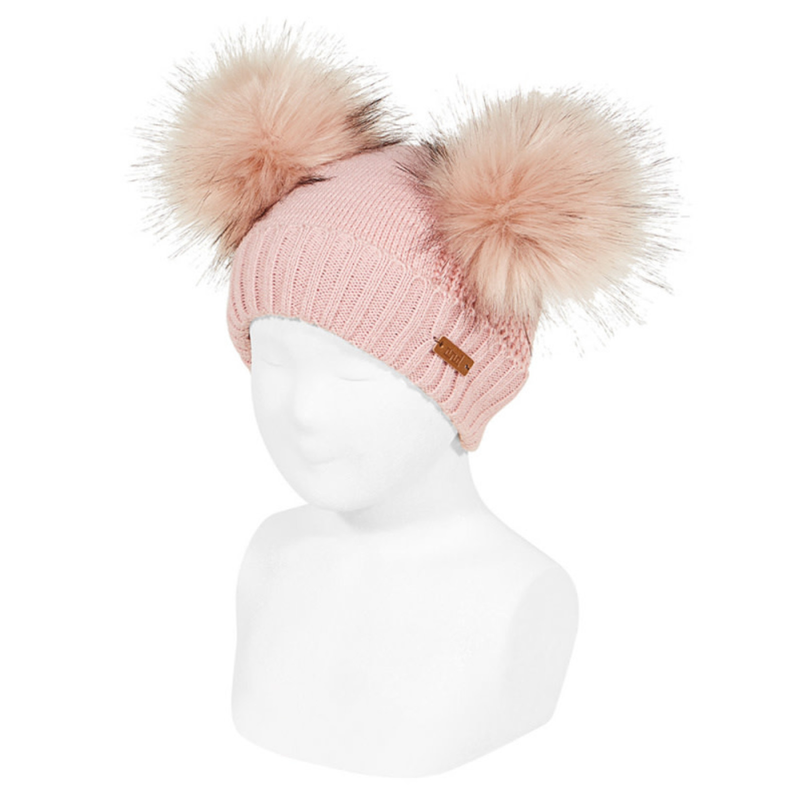 Condor Hat Double Pompom Pale Pink - Condor