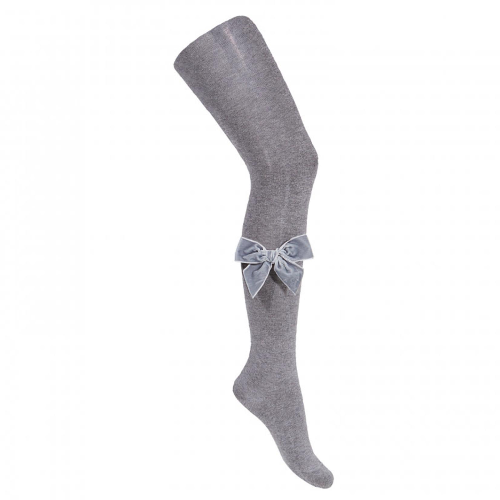 Condor Side Velvet Bow  - Gray