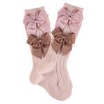 Condor Condor Socks Two Bows - Pink