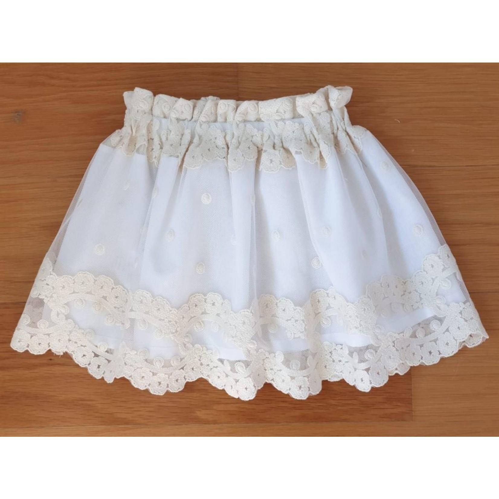 Petite Zara Skirt Ivory Lace - Petite Zara