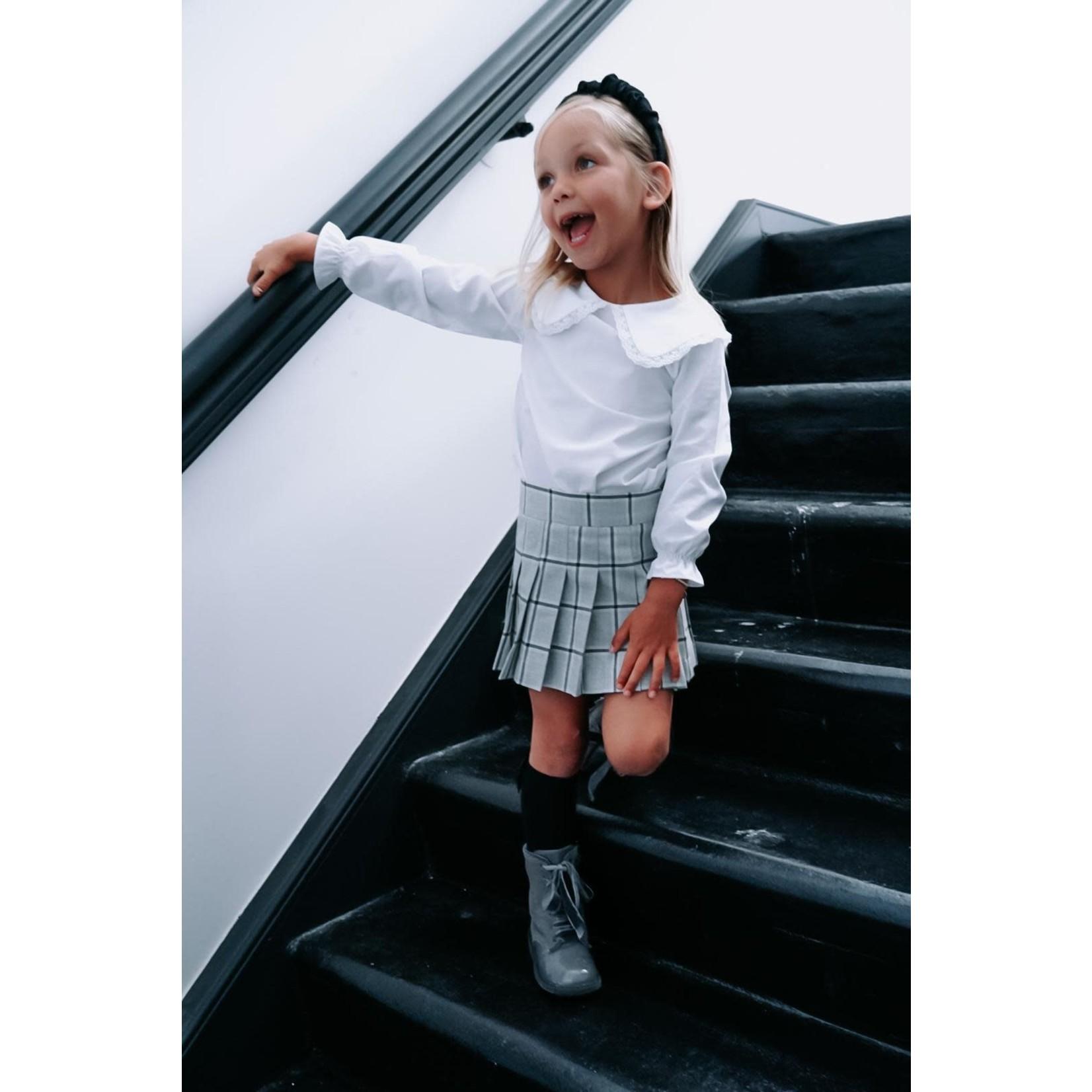 Petite Zara Blouse White Big Collar - Petite Zara
