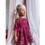 Camellia Dress Alexia Burgundy