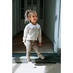 Petite Zara Suede Pants - Stripes Ivory