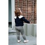 Petite Zara Suede Pants - Stripes Navy