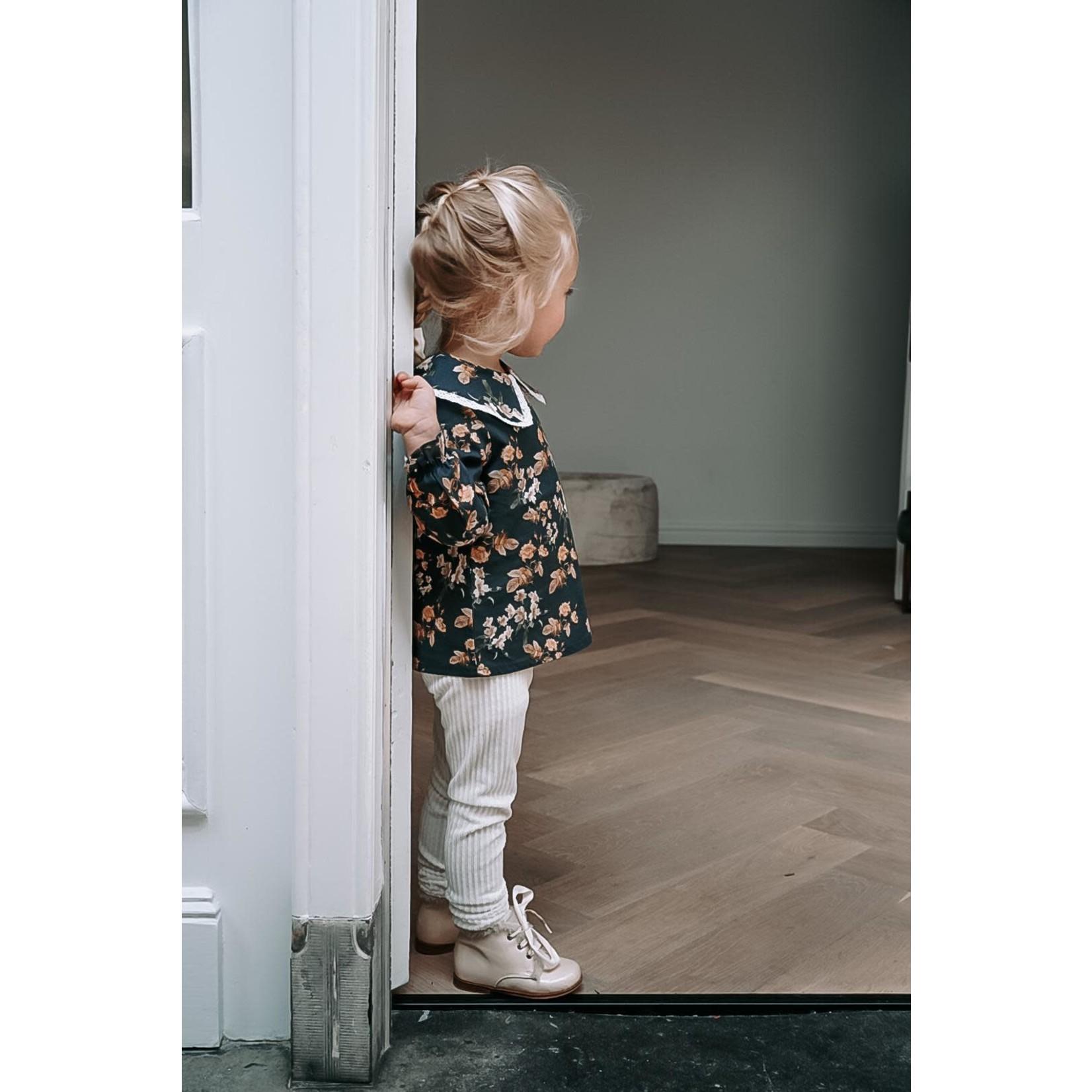 Petite Zara Rib Pants -  Ivory