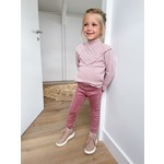 Petite Zara Suede Pants - Dusty Pink