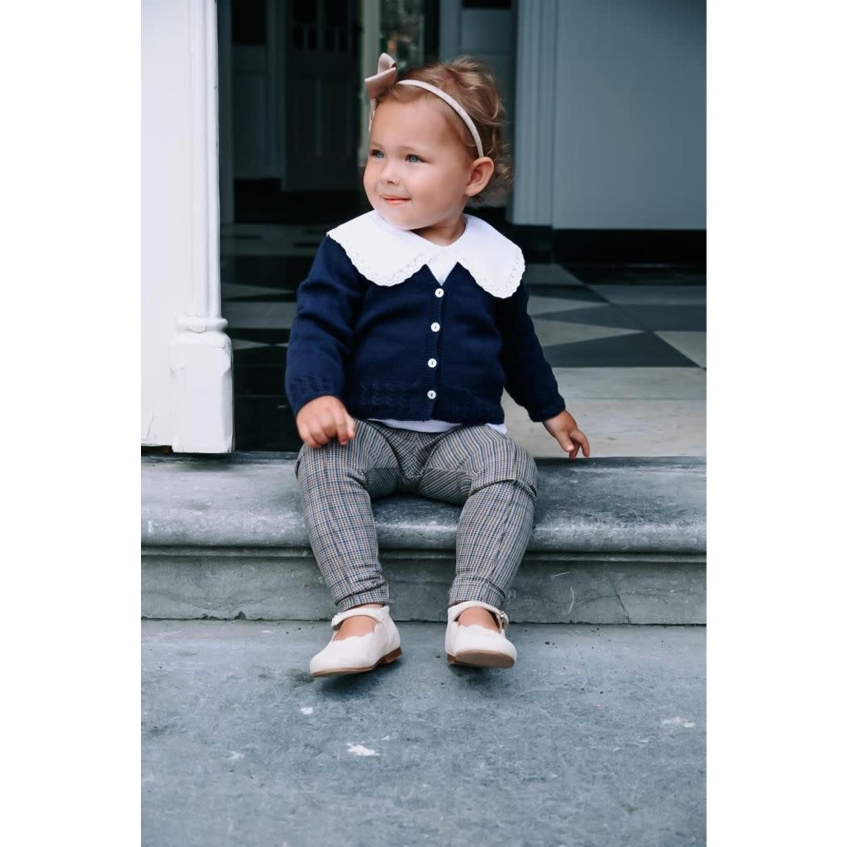 Petite Zara Blouse White Double Collar - Petite Zara