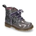 Petite Zara Biker Boots Glitter - Gray
