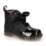 Petite Zara Biker Boots Glitter - Black