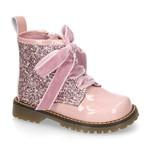 Petite Zara Biker Boots Glitter - Pink