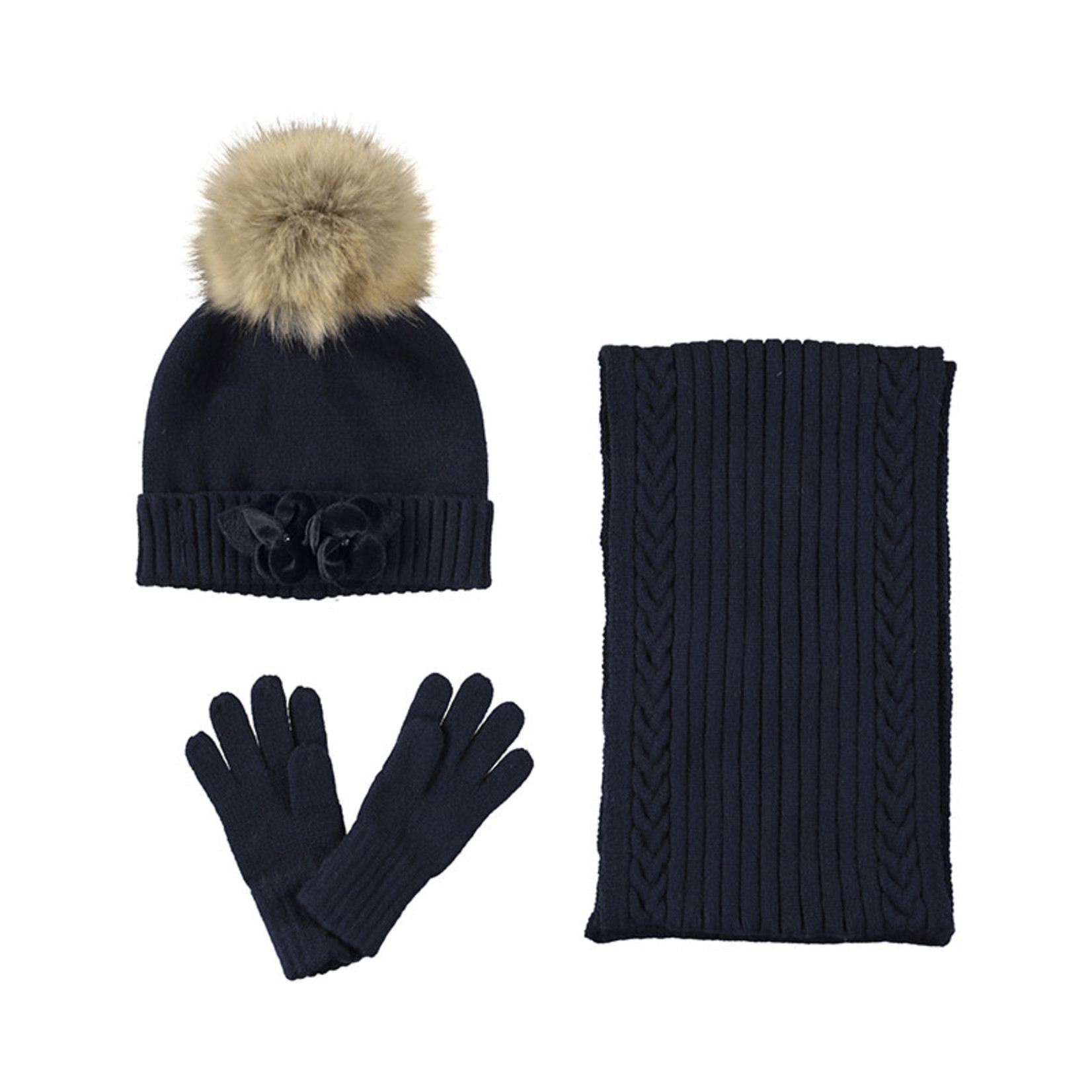 Mayoral Hat & scarf set navy