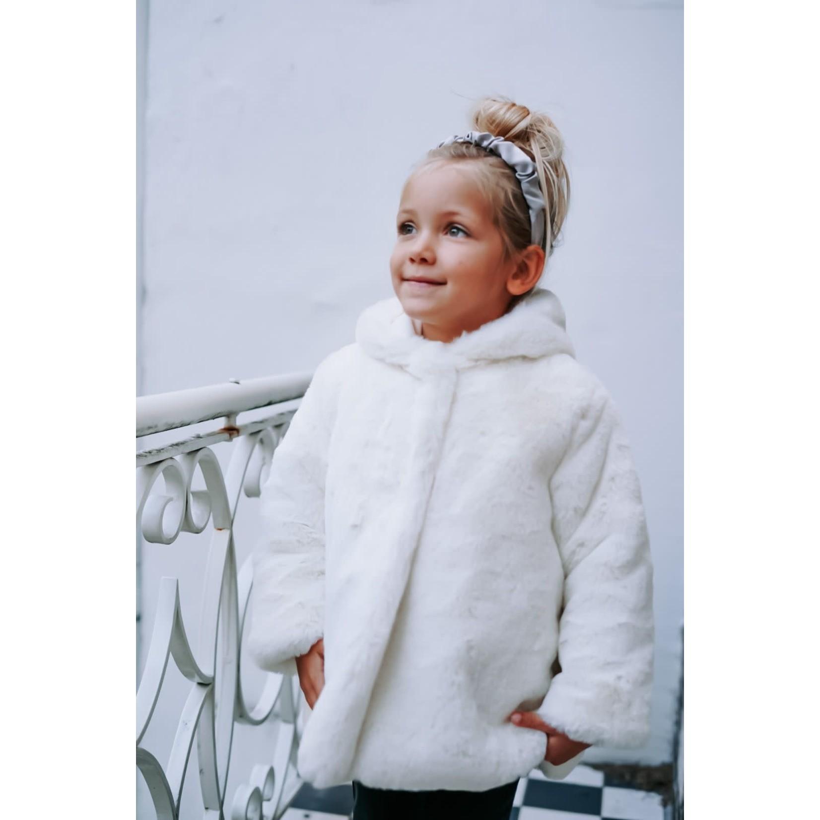 Petite Zara Teddy Coat Ivory - Petite Zara