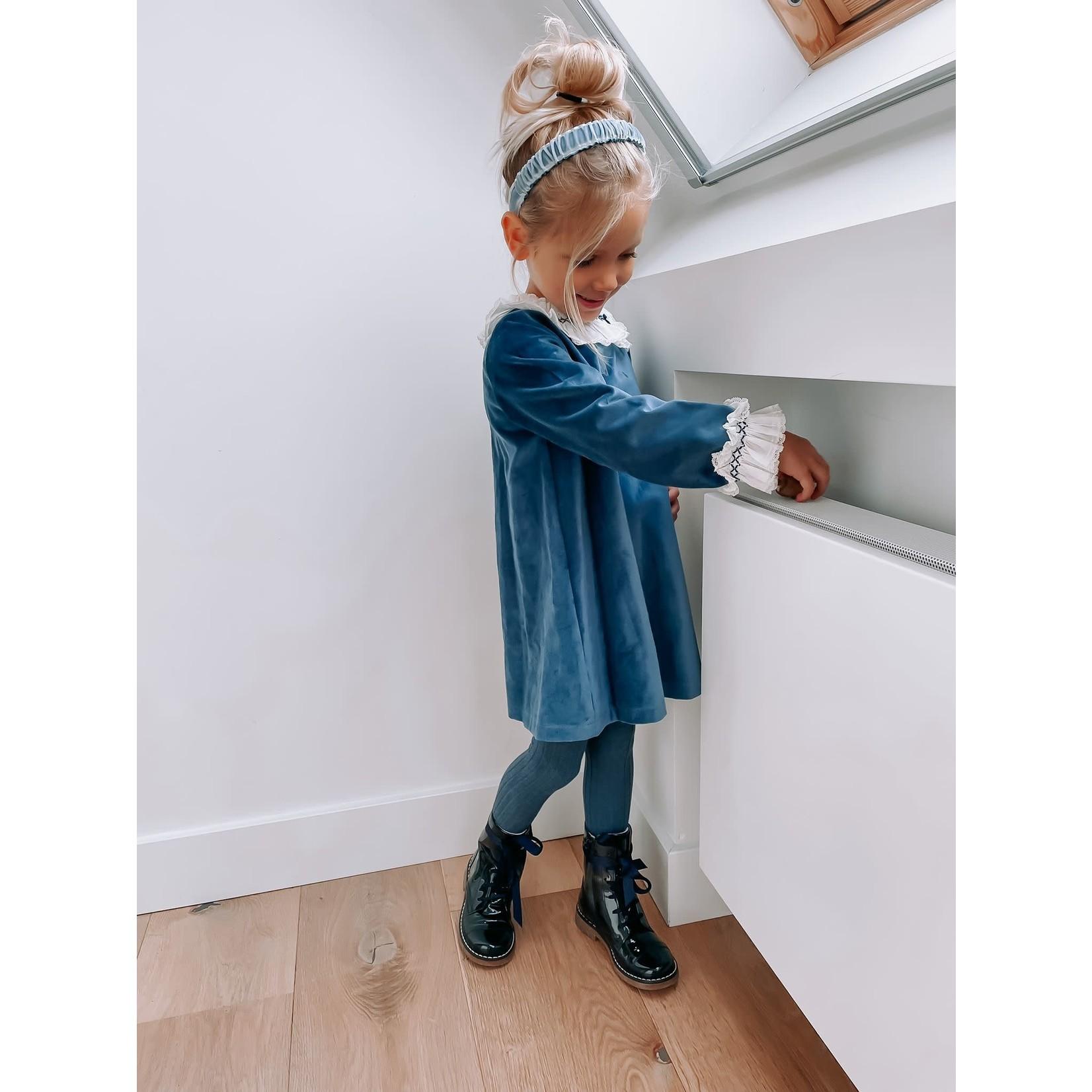 Laivicar Dress Velvet Blue - Laivicar