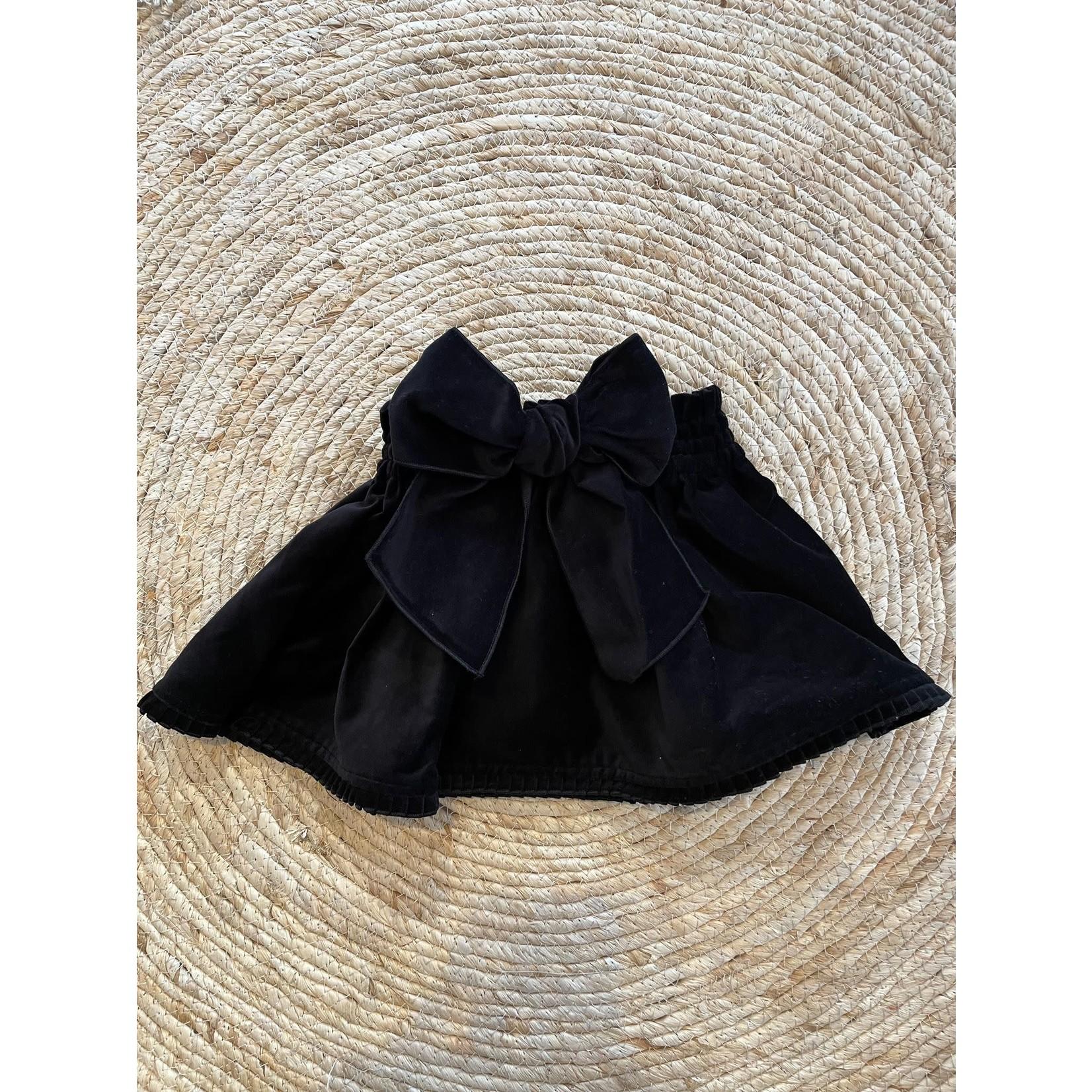 Phi Black Velvet Skirt