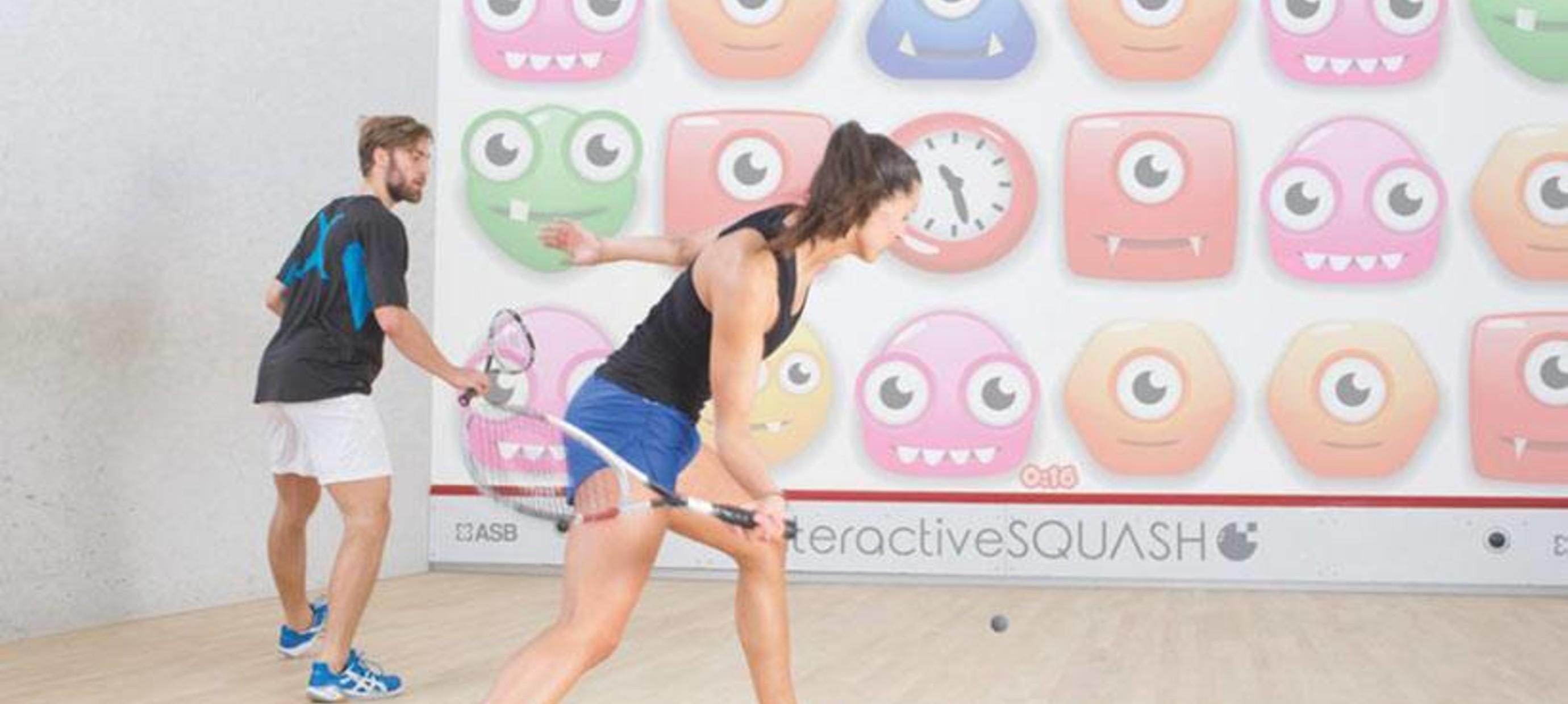 Eerste interactieve squashbaan in Nederland geopend