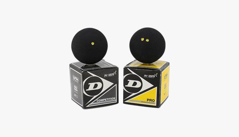 Verschil tussen de Dunlop Pro en de Dunlop Competition Squashbal