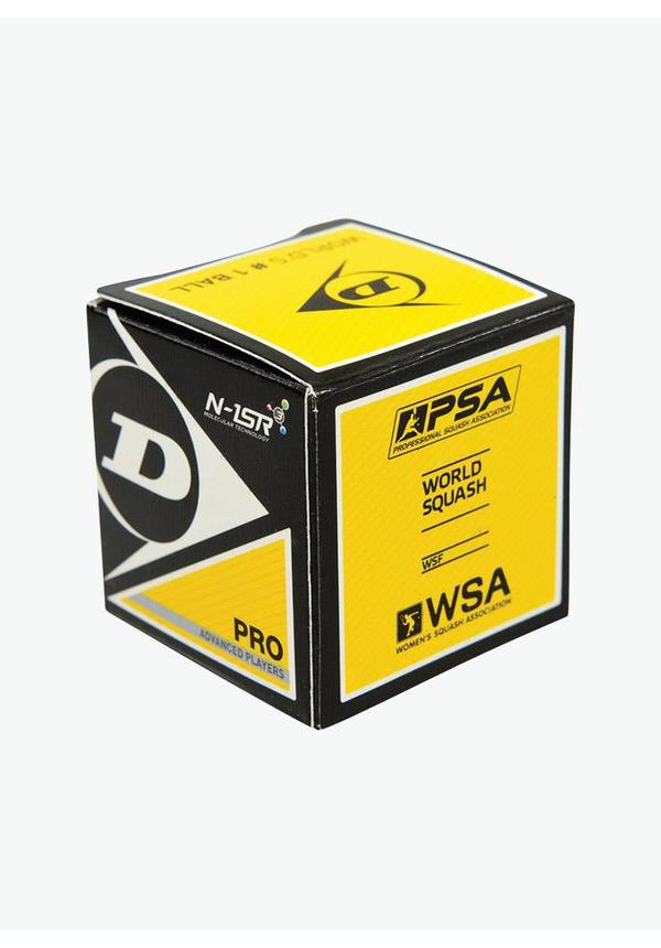 Dunlop Pro Squashbal (dubbele gele stip) - 12 Stuks