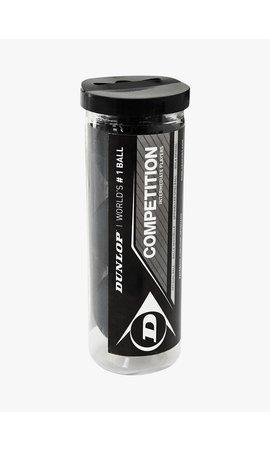 Dunlop Competition Squashbal (enkele gele stip) - 3 Tube
