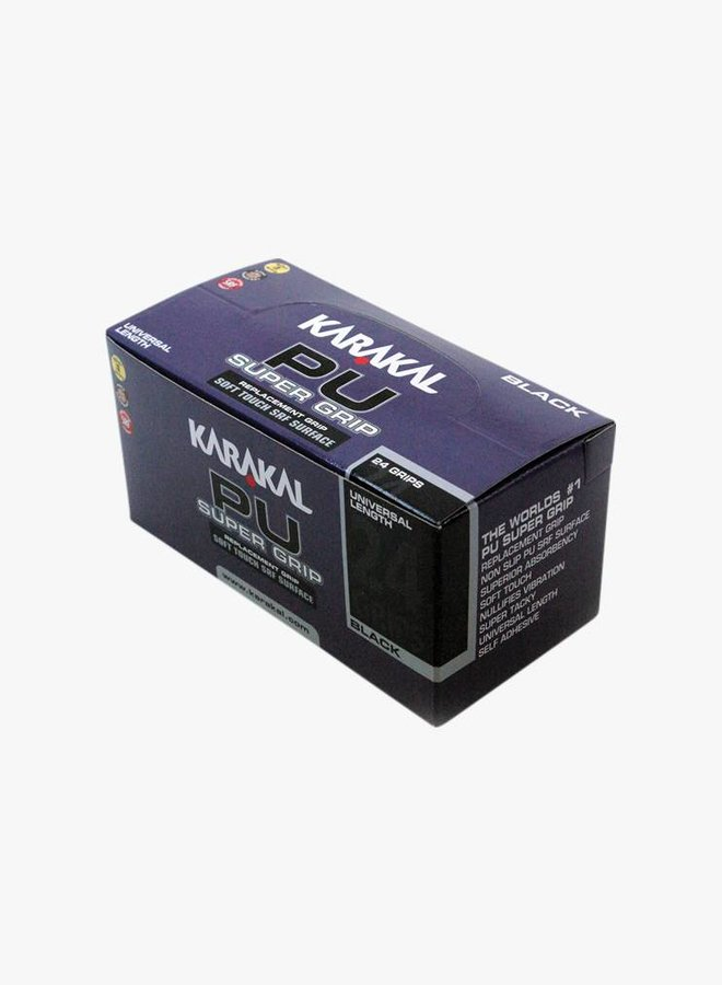 Karakal PU Super Grip Zwart - 24 Stuks