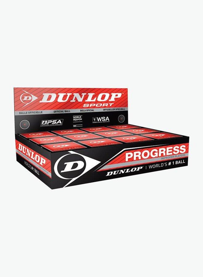 Dunlop Progress Squashbal - 12 Stuks