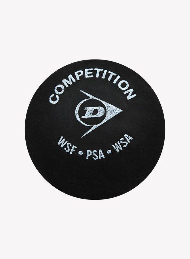 Dunlop Competition Squashbal (enkele gele stip) - 3 Blister