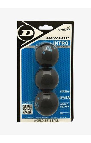 Dunlop Intro Squashbal - 3 Blister