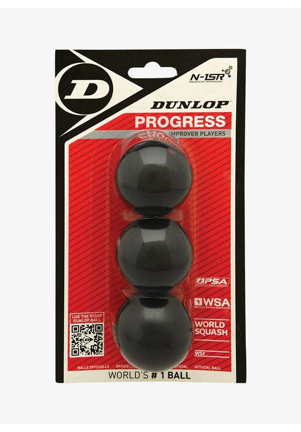 Dunlop Progress Squashbal - 3 Blister