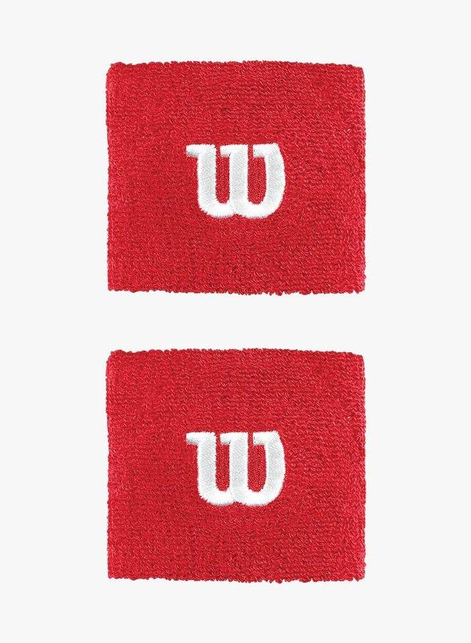 Wilson 'W' Polsband - 2  Stuks - Rood