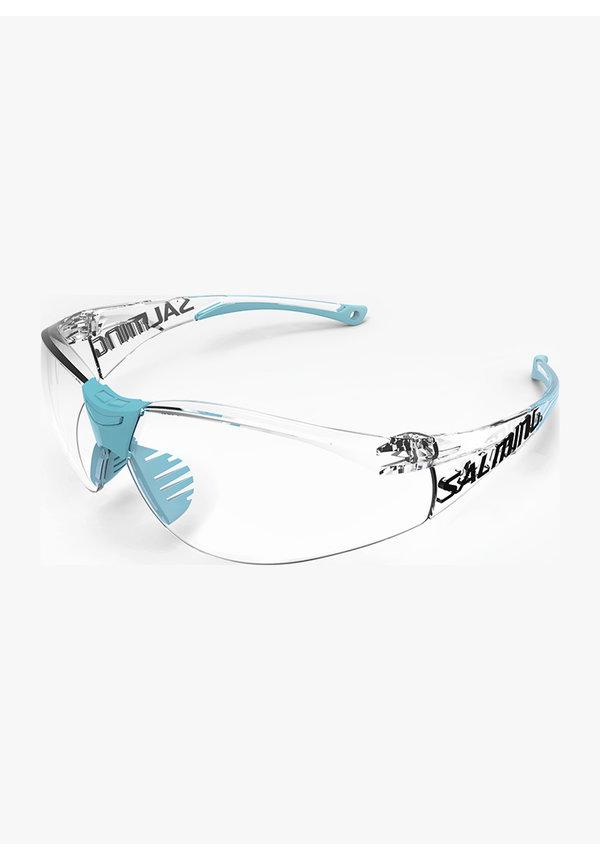 Salming Split Vision Junior Squashbril - Lichtblauw