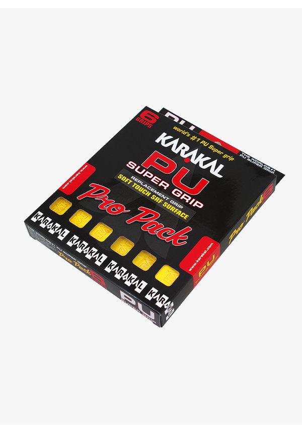 Karakal PU Super Grip Geel Pro Pack - 6 Stuks