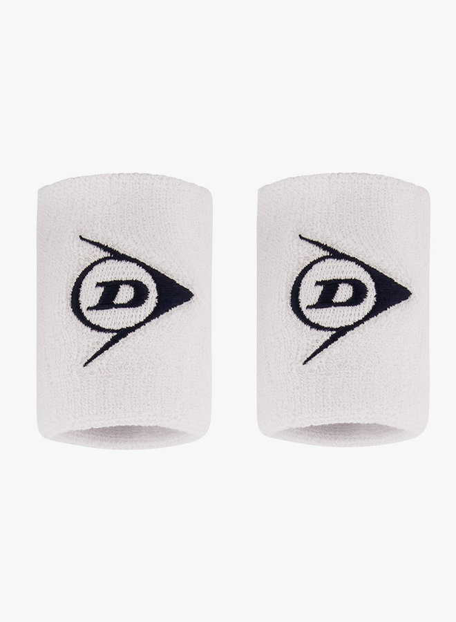 Dunlop Polsband - 2 Stuks - Wit