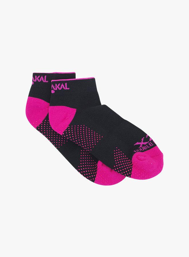 Karakal X2+ Dames Technical Sneaker Sokken  - Zwart / Rose