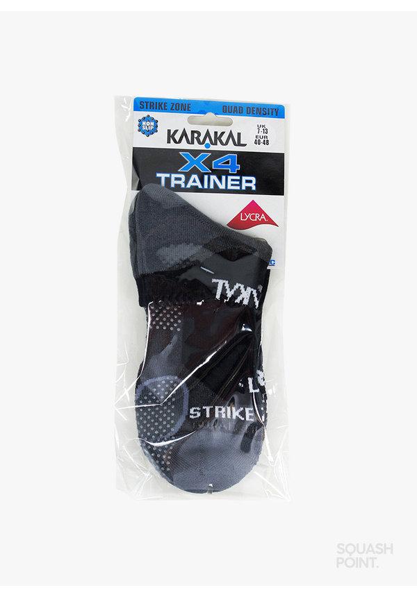 Karakal Mens X4-Technical Sneaker Sokken - Zwart