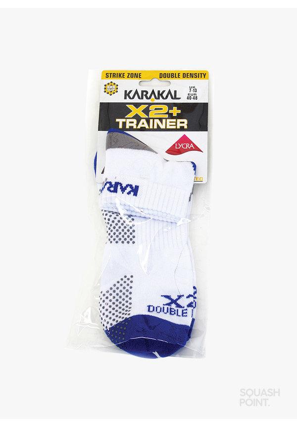 Karakal X2+ Mens Technical Sneaker Sokken  - Wit / Blauw