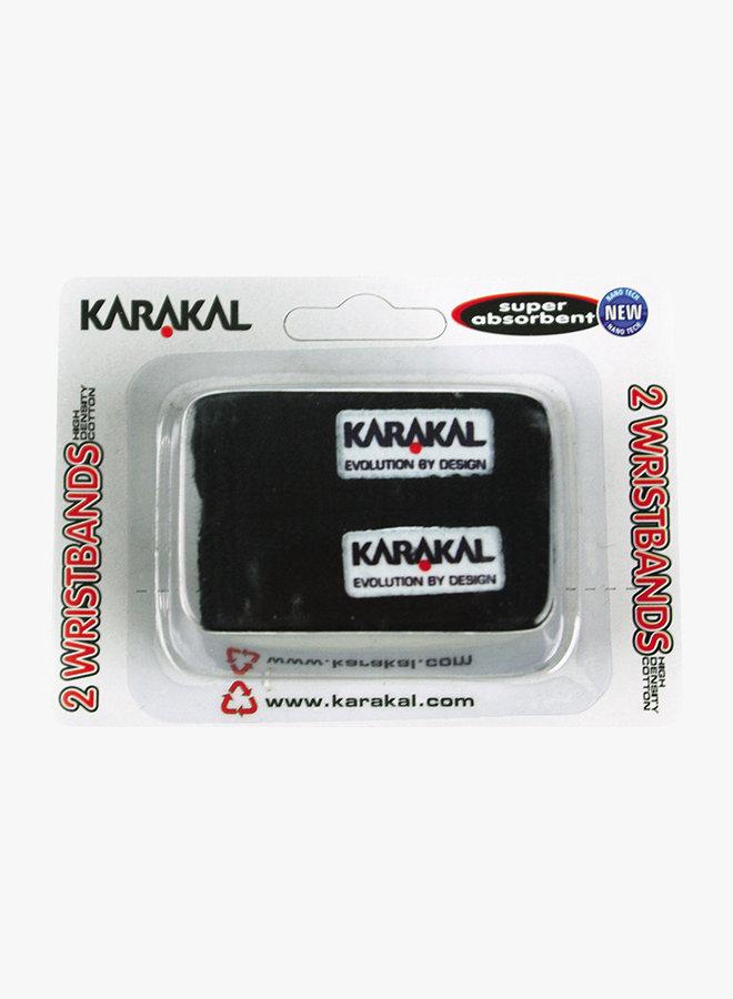 Karakal Polsband X2 - 2 Stuks - Zwart