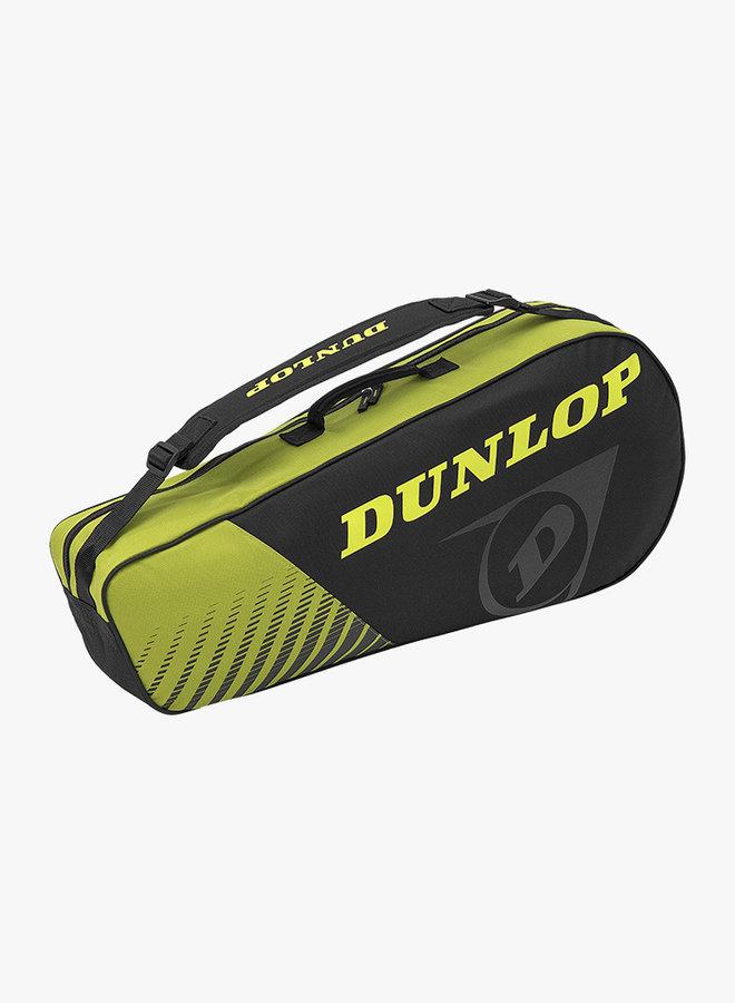 Dunlop SX Club 3 Racket Bag - Zwart / Geel