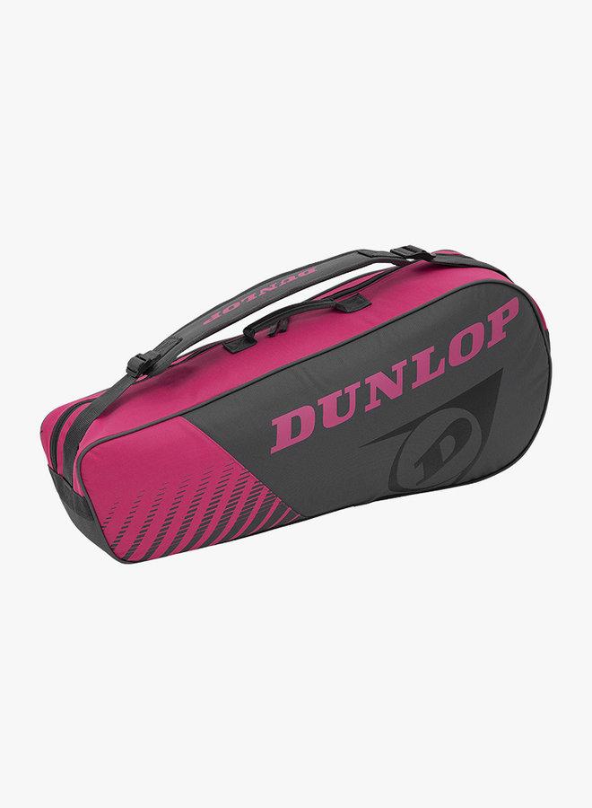 Dunlop SX Club 3 Racket Bag - Grijs / Roze