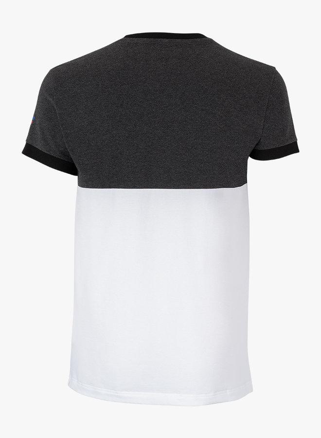 Tecnifibre F1 Stretch Shirt - Black Heather / Wit