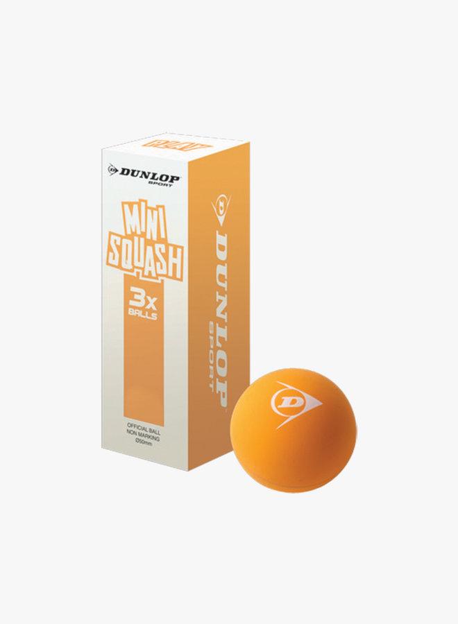 Dunlop Mini Squashbal Play - 3 Stuks